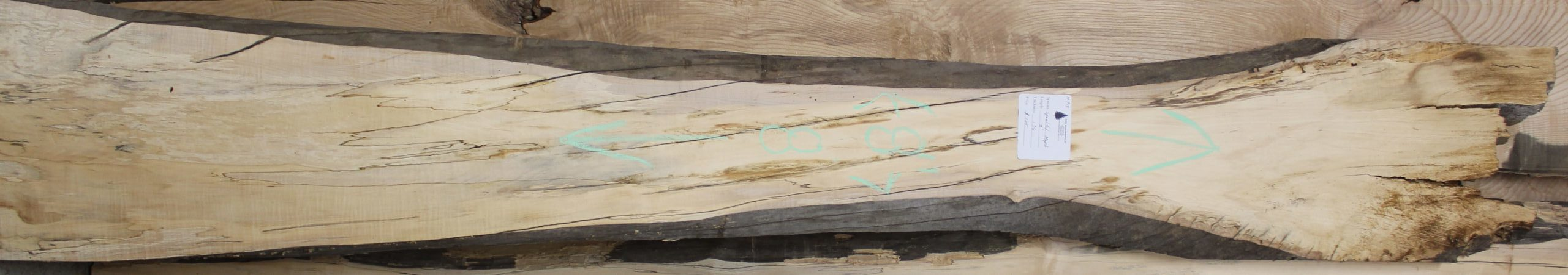 Spaulted Maple Live Edge Slab